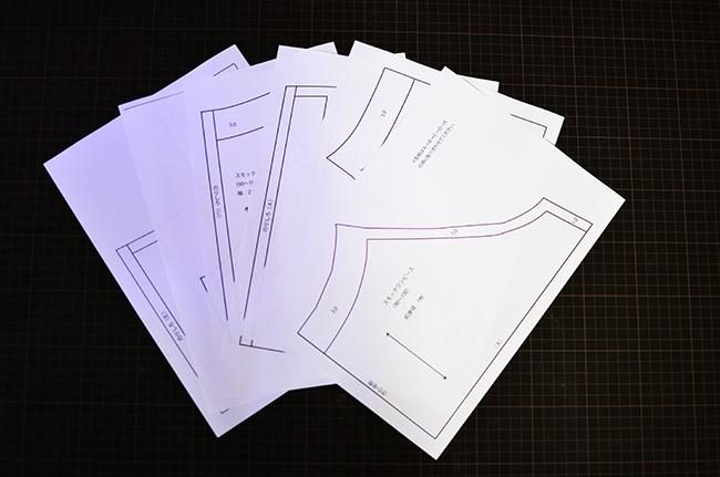 印刷したパターン